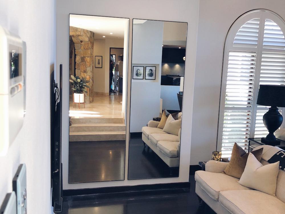 mirror hanging, art installation
